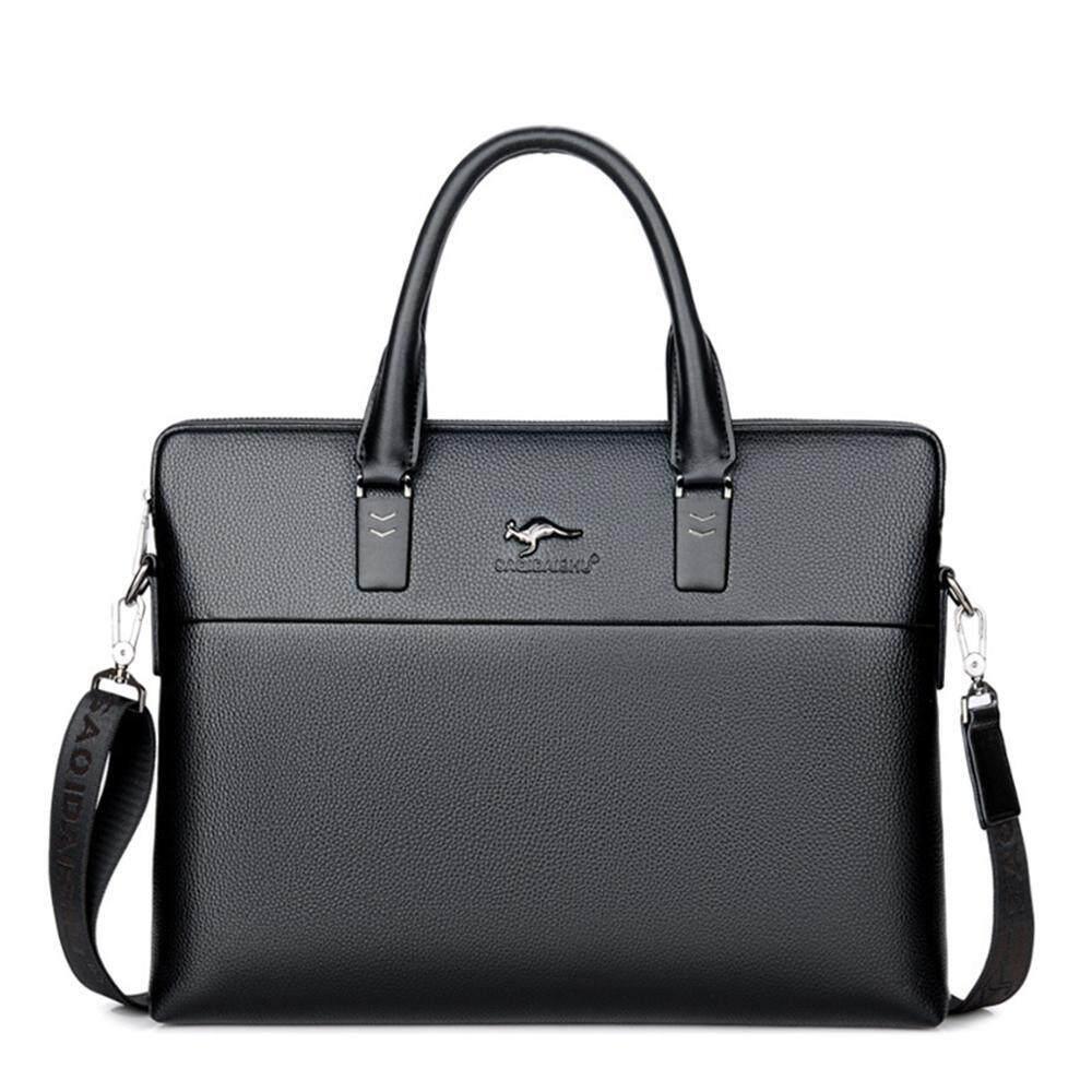 OEM Formal Leather Briefcase Shoulder Laptop Business Bag for Men