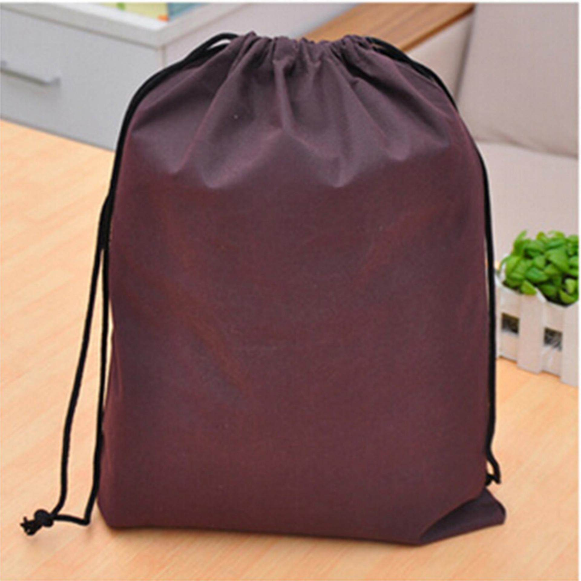 6 Color Portable Shoes Bag Travel Storage Pouch Drawstring Dust Bags Non-Woven