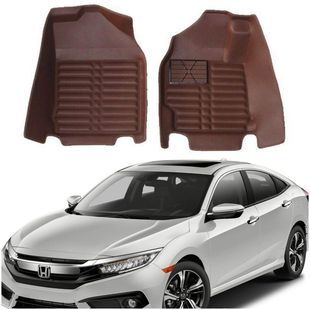 READY STOCK HONDA CIVIC CAR FLOOR MAT WATERPROOF (FULL SET LEATHER)
