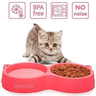 Pencarian Termurah CATOOP Cat Bowls, Cat Food Water Bowl Set Guinea Pig Food Bowl Feeder