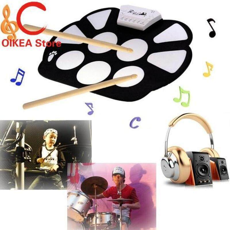 Portable Electronic Roll Up Drum Pad Instrument Gifts Fun Intellectual