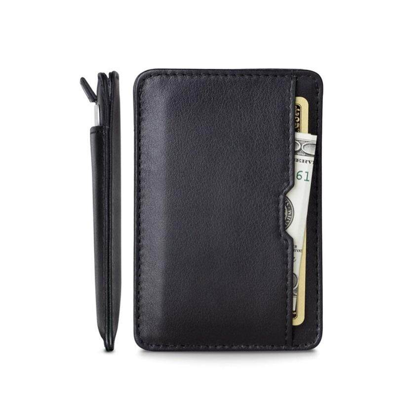 RFID Blocking Bifold Slim Genuine Leather Thin Minimalist Front Pocket Wallets for Men Billfold - Made From Full Grain Leather - intl