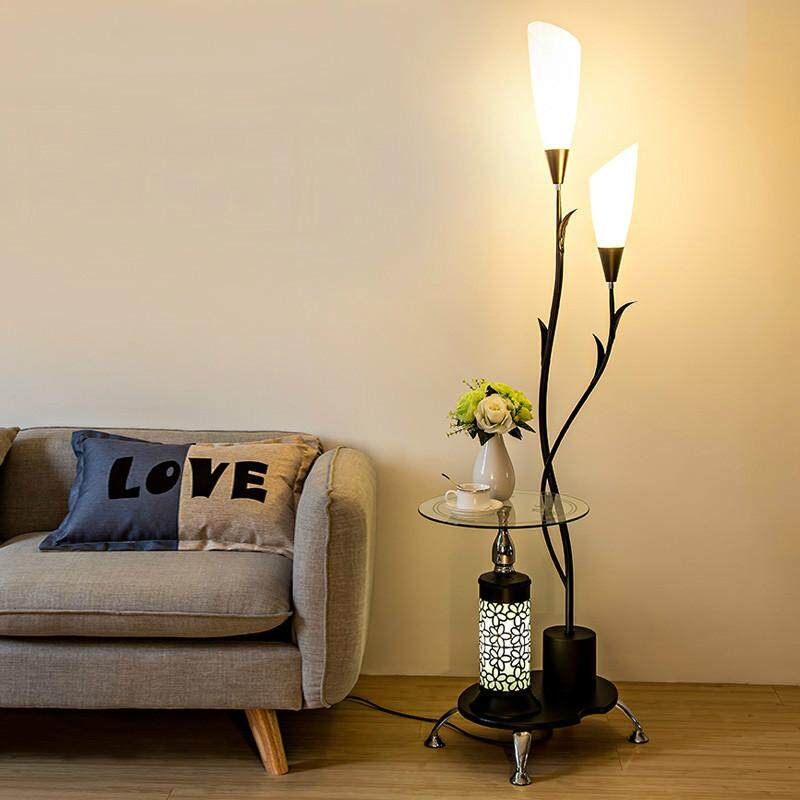 Nordic Creative Coffee Table Frame Floor Lamp. Modern Minimalist Living Room Decorates Bedroom Bedside Lamps, Vertical Floor Lamps with Bookshelves.