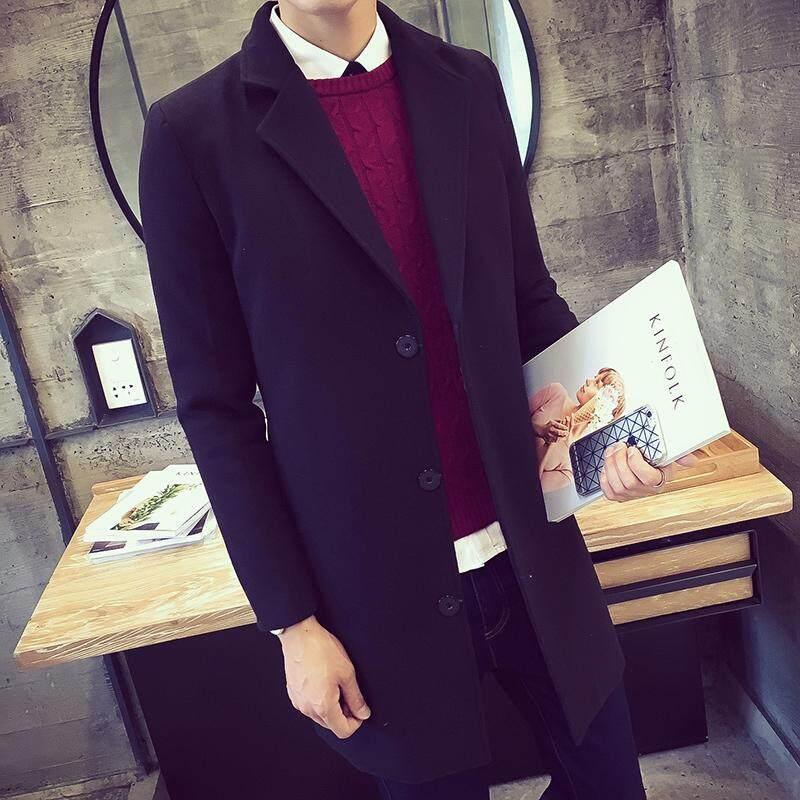 Musim dingin jaket pria pria model setengah panjang Gaya Korea membentuk  tubuh tambah beludru lebih tebal 945eb14282