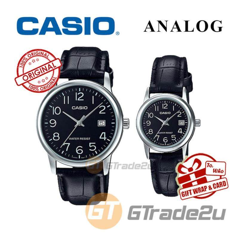CASIO MTP-V002L-1B & LTP-V002L-1B Couple Watch  Simple Easy Design Malaysia