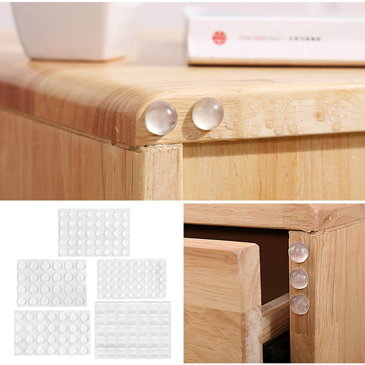 Bon 106 PCS 5 Sizes Self Adhesive Clear Feet Bumpers Buffer Dots Pads Sound  Dampening For