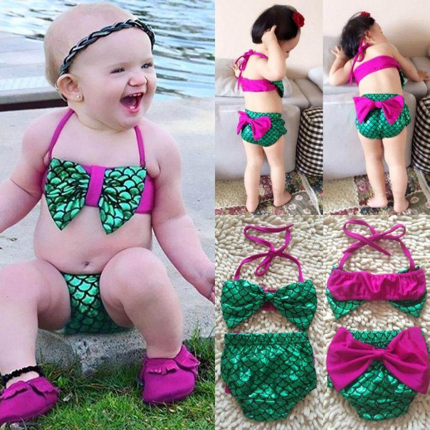 e5d7a20d1 Toddler Kids Baby Girl Mermaid Swimsuit Bikini Set Summer Children Swimwear  Bathing Suit