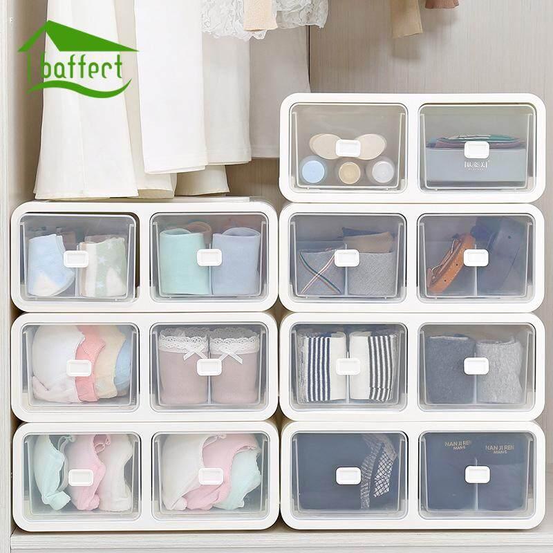 Creative Modern Living Room Plastic Storage Drawers Organizer Box Socks Underwear Bra Container European Acrylic Casket