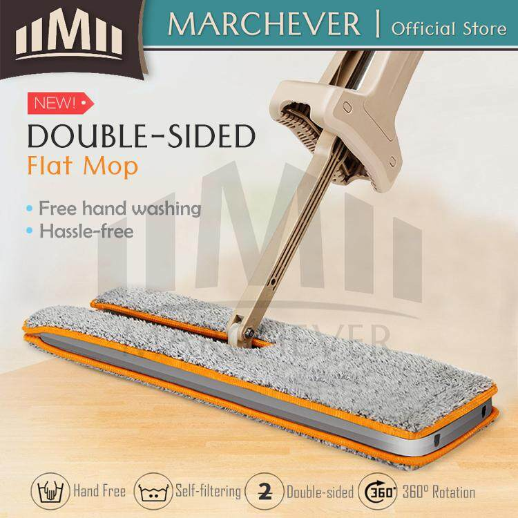 Easy Mop Double Sided Flat Mop Self-wash Mop Hand Free Floor...