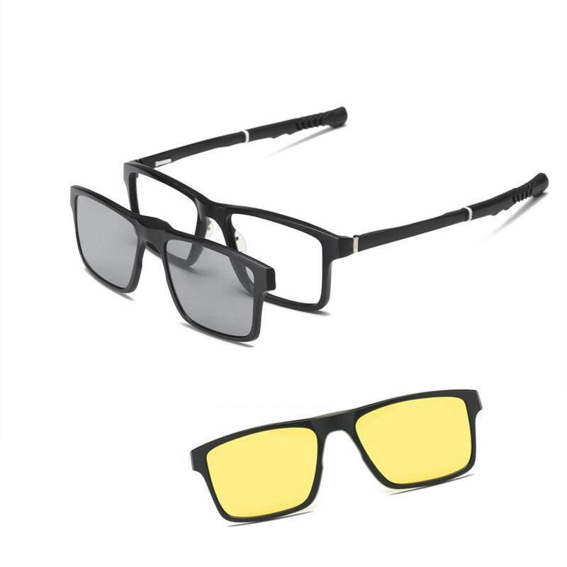 005719abfa JOSEJINN sports magnetic Clip On Sunglasses basketball football myopia  glasses frame