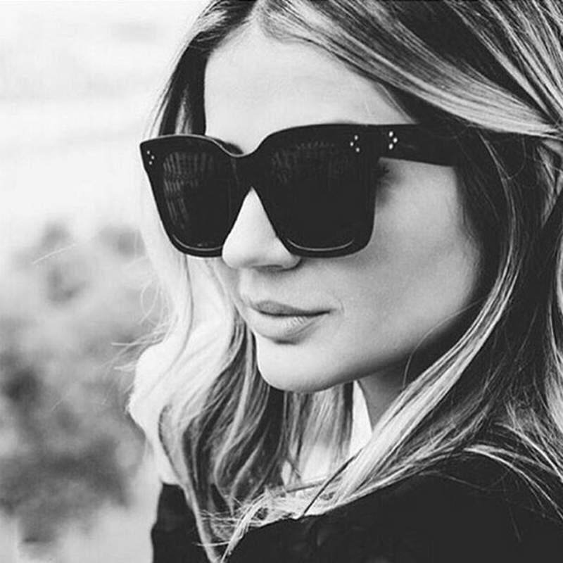 a89f93847235 Sway 2018 Large oversized sunglasses half frame retro fashion glasses - intl