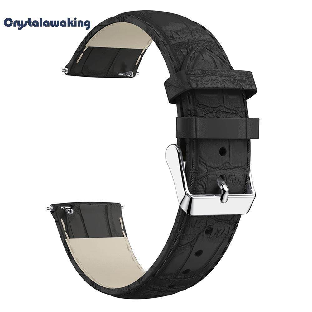 22mm Leather Pattern Wristband Bracelet Strap Replacement for Fitbit Versa