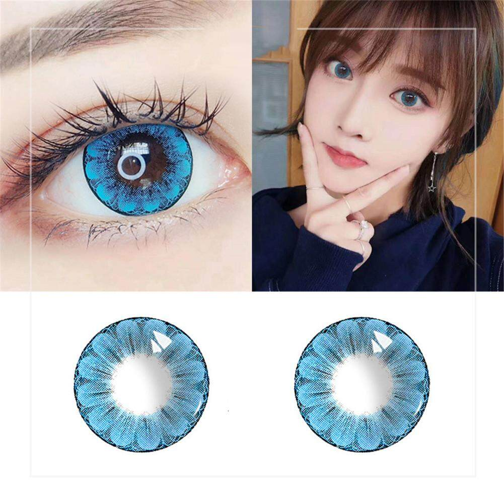 1 Pair Of Large Plum Blossom Style Cosmetic Contact Lensesid0135403 By Aokaila.