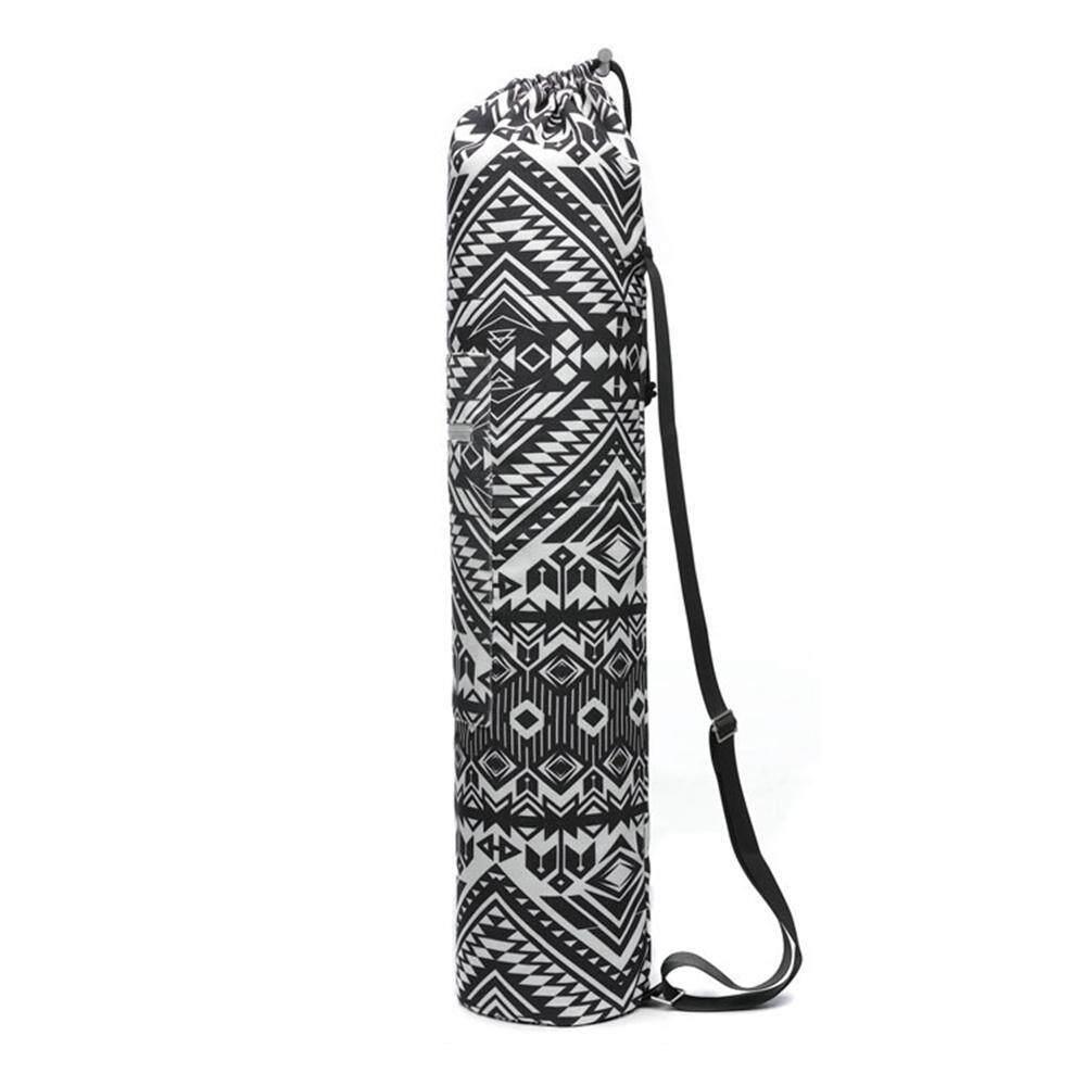 BuyInBulk Yoga Mat Carrier Bag, Full Zip Canvas Exercise Yoga Mat Carry Bag with Storage