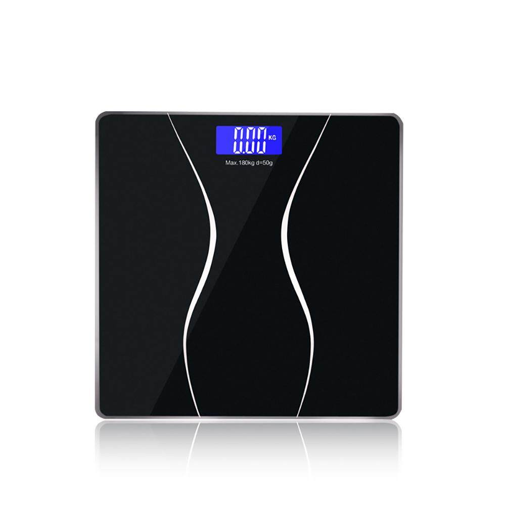 HiQueen Digital Electronic LCD Body Weight Glass Bathroom Waterproof Personal Weighing Body Scale
