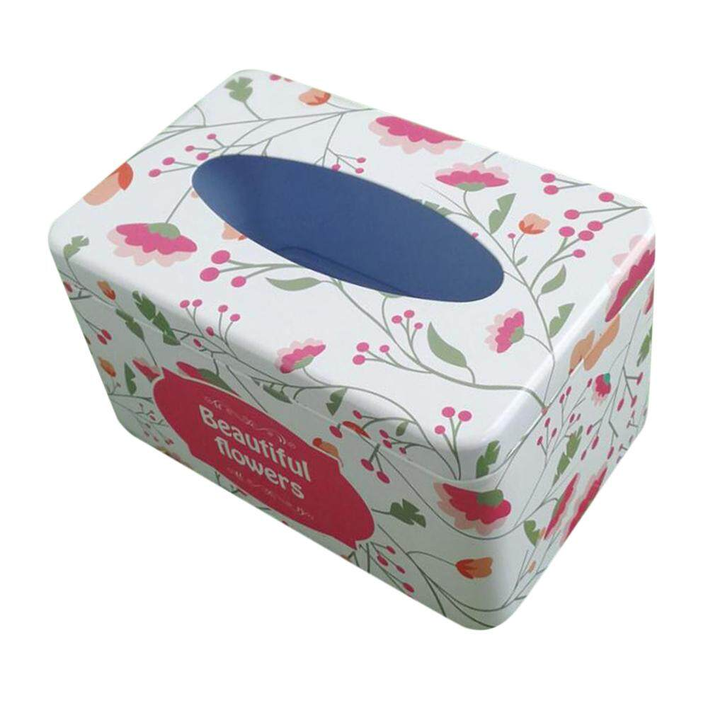 Offer Khuyến Mãi BolehDeals Tissue Box Cover Napkin Holder Car Paper Storage Container Tin Case Kitchen ...