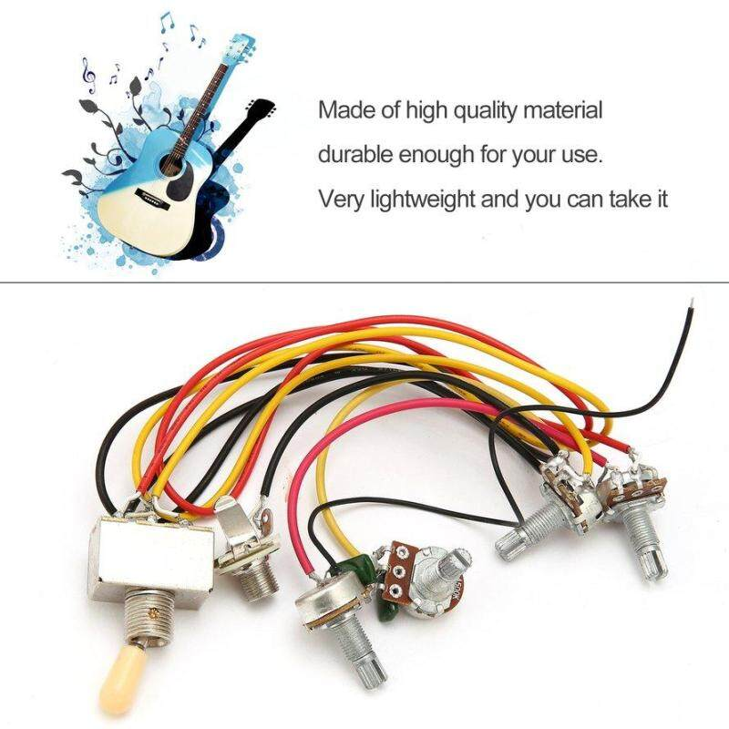 OSMAN 1 Full Set LP SG Electric Guitar Pickup Wiring Harness Potentiometers Kit