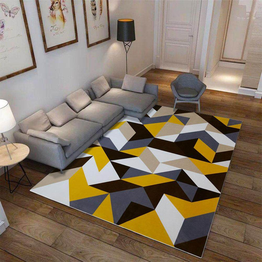 Big House Anti-Slip Soft Geometric Pattern Carpet Large Size Home Area Rugs For Living Room Kids Bedroom Floor Supplies