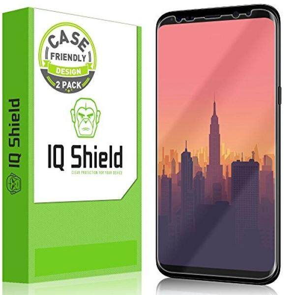 Galaxy S8 Plus Screen Protector (Not Glass), IQ Shield LiQuidSkin Full Coverage Screen Protector for Samsung Galaxy S8 Plus (2-Pack,Case Friendly) HD Clear Anti-Bubble Film