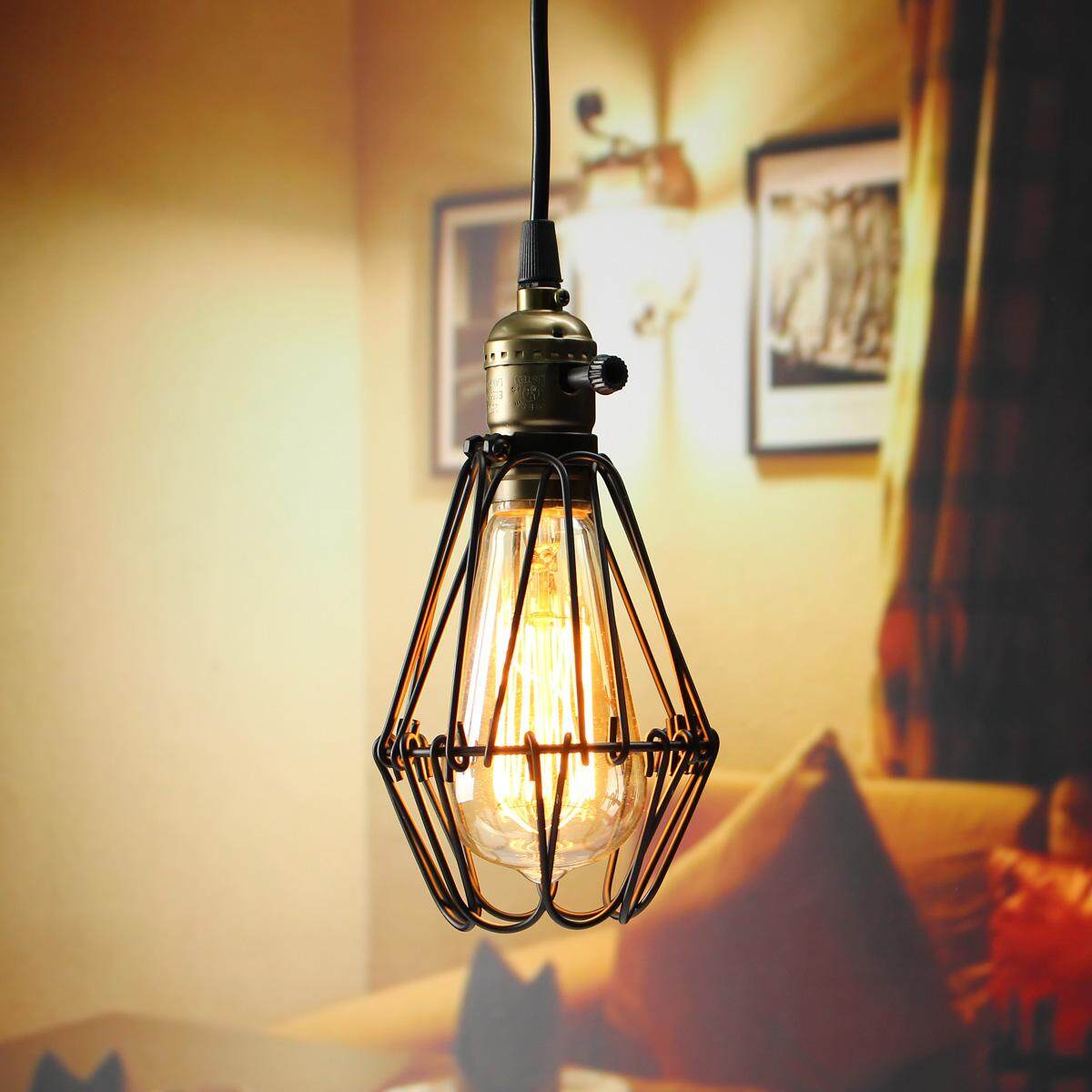 Industrial Retro Vintage Pendant Celling Light Bulb Hanging Lamp Shade Holder - Intl By Paidbang.