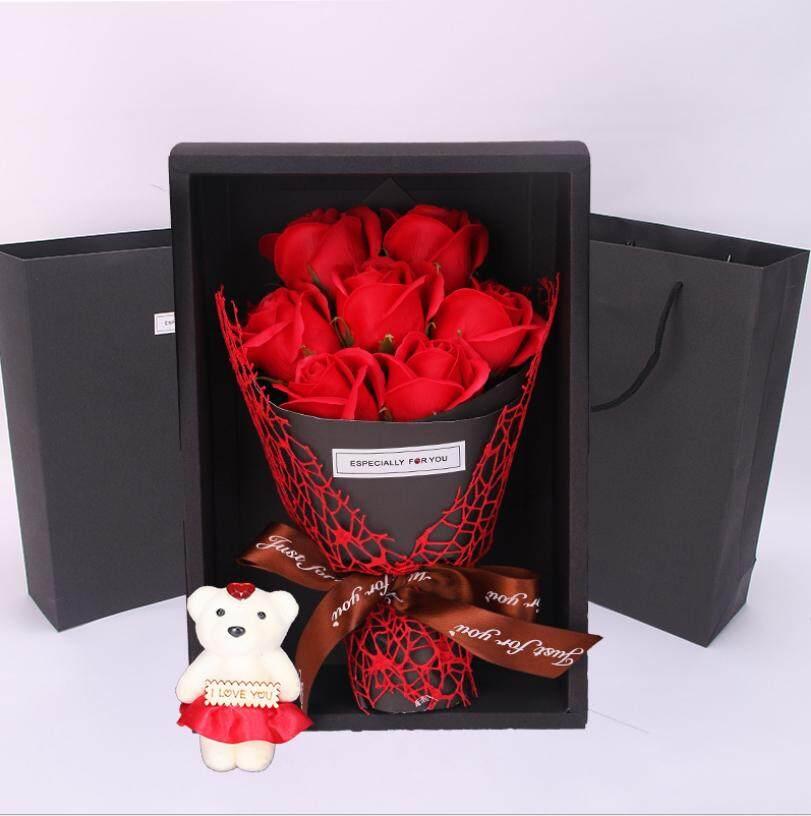 ... valentine / ulang tahun - buket bunga flanel. Source · Baru 7 Sabun Bunga Kotak Hadiah Mawar Bunga Buket Beruang Natal Hari Kasih Sayang Hadiah Kreatif