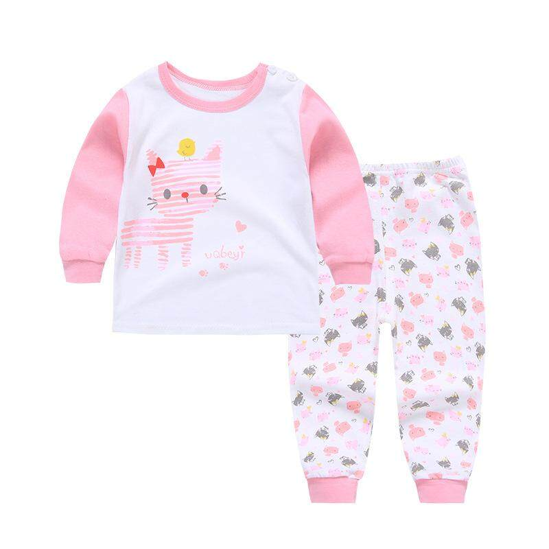 c35e183303378 ❤️Cutiebaby New Fashion 2pcs Kids Baby Boys Girls Clothes Top+Pants Cotton  Baby Sleepwear