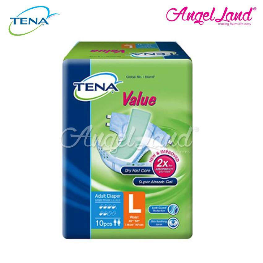 Tena Value Adult Diaper L 10pcs
