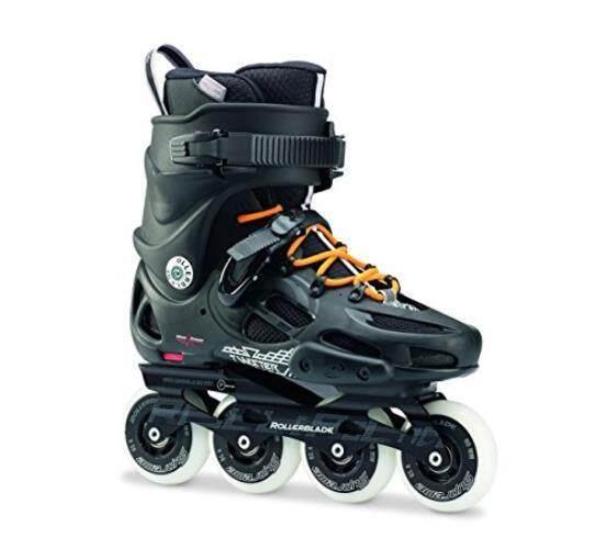 Sepatu Roda Twister 80 Twincam Ilq 7 Plus Bantalan Sepatu Roda Hitam/Urban Orange, kami Pria 9-Intl