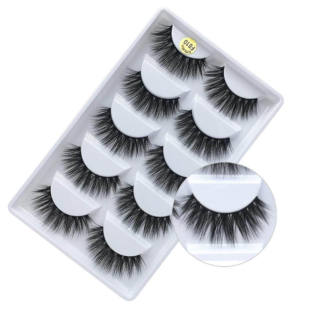 Makeup Tool Reusable Thick Soft False Eyelash 3D Long Mink Hair Handmade (F810 ) Philippines