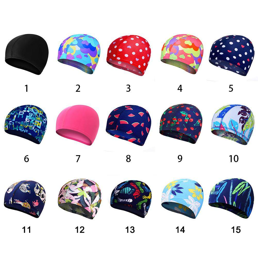 697931e0f69 Adult Elastic Swimming Caps Protect Ears Long Hair Soft Bathing Hat style 14