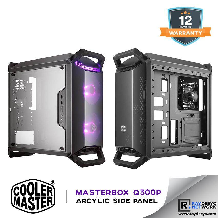 Cooler Master MasterBox Q300P Gaming Chassis - included 2 RGB Fans [Matx, Mini-ITX] Malaysia