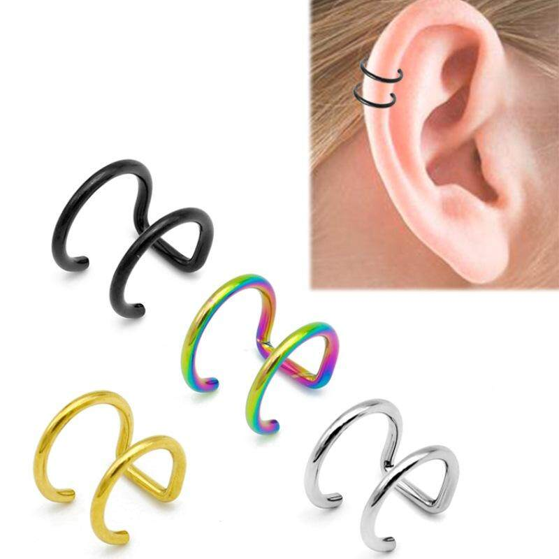 af108c0bf 10 pcs Trendy Simple Clip on Earrings without Piercing non pierced ear cuff  earrings Gold Silver