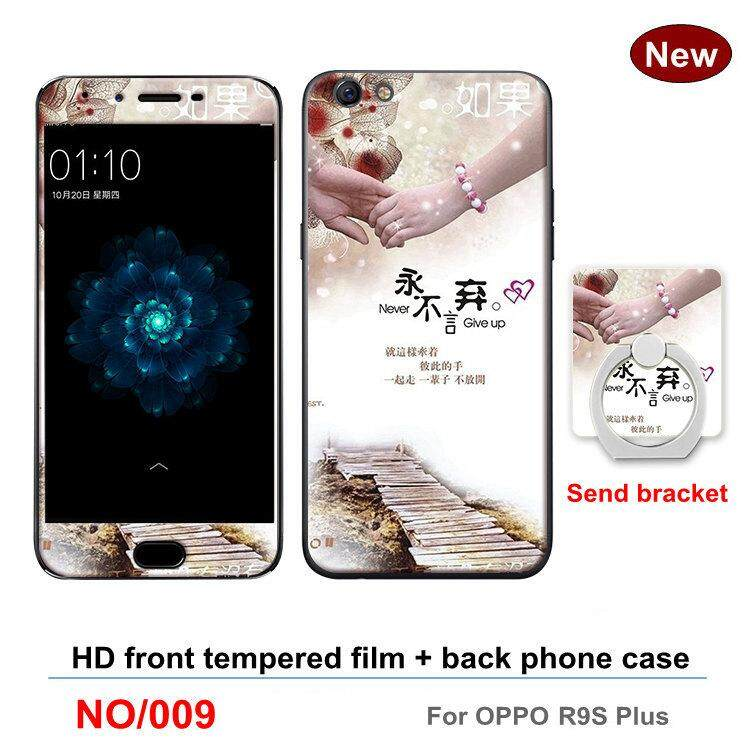 Screen Protectors Fashion 360 Full Degree Cover TPU soft plastic case Phone Case Shockproof Case For OPPO R9S Plus / F3 Plus Full Tempered Glass Screen ...