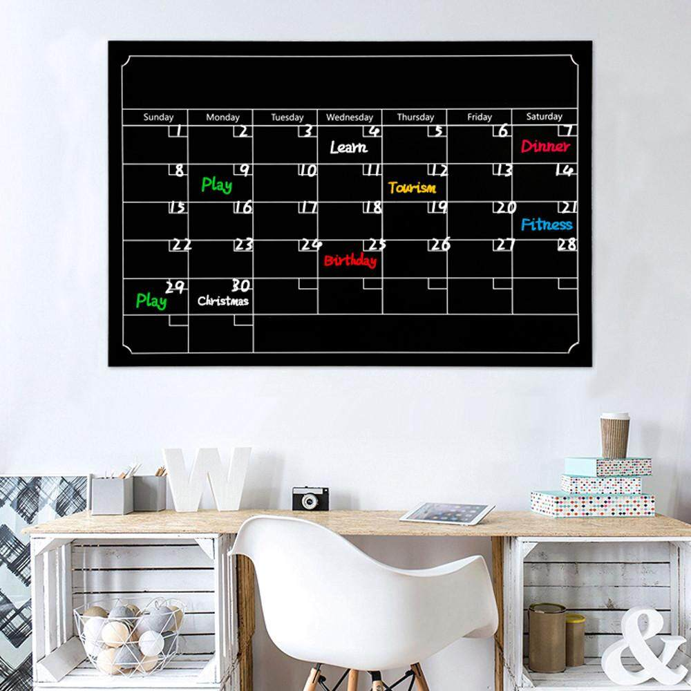 Myanswer dry erase board blackboard month magnetic calendar chalkboard wall sticker free shipping