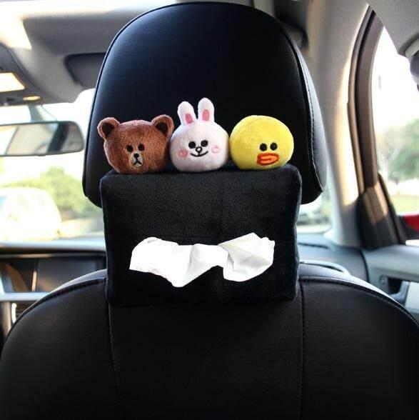 Rimtronics LINE Brown Cony Sally Car Hanging Tissue Box Napkin Holder