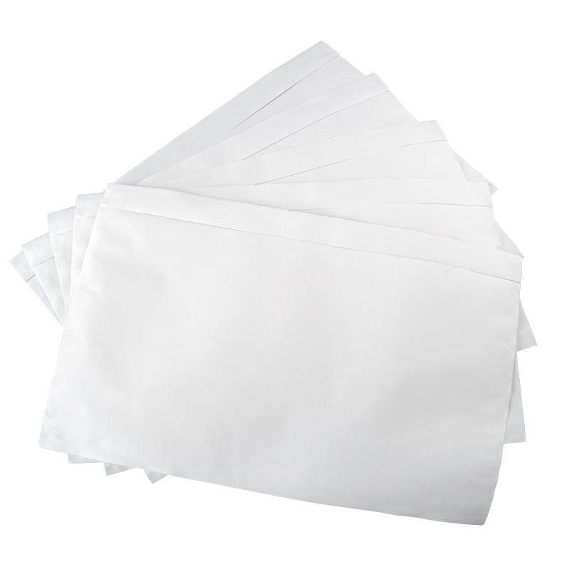 100pcs/Bundle Consignment Note Pocket A5 Pouch Document Whole Full Glue Secure Courier Address bill Sticker plastic SELF ADHESIVE POSLAJU Flyer