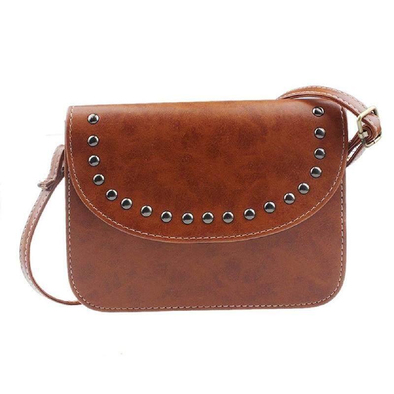 Women handbag shoulder bags of retro leather messenger bag (yellow brown)