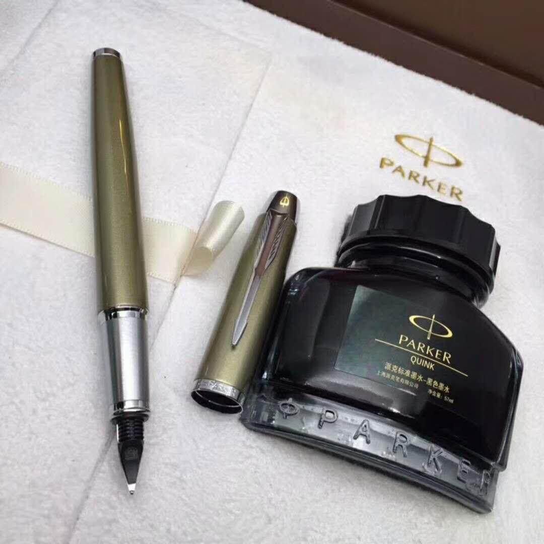 Parker Pulpen dengan Kartrid Tinta Set Panas Daftar Counter dengan Sama Menulis Fasih Berbahasa Indah Kemasan High-End-Intl