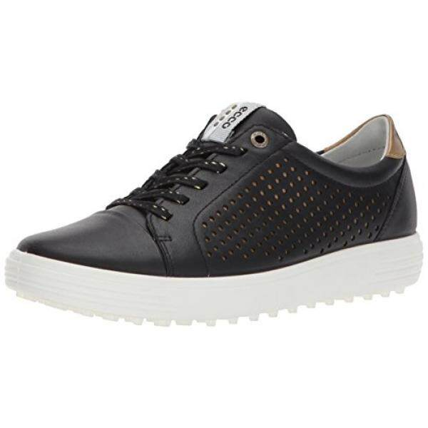 eade7b73d0 ECCO Womens Casual Hybrid Perforated Golf Shoe, Black, 41 EU/10- US