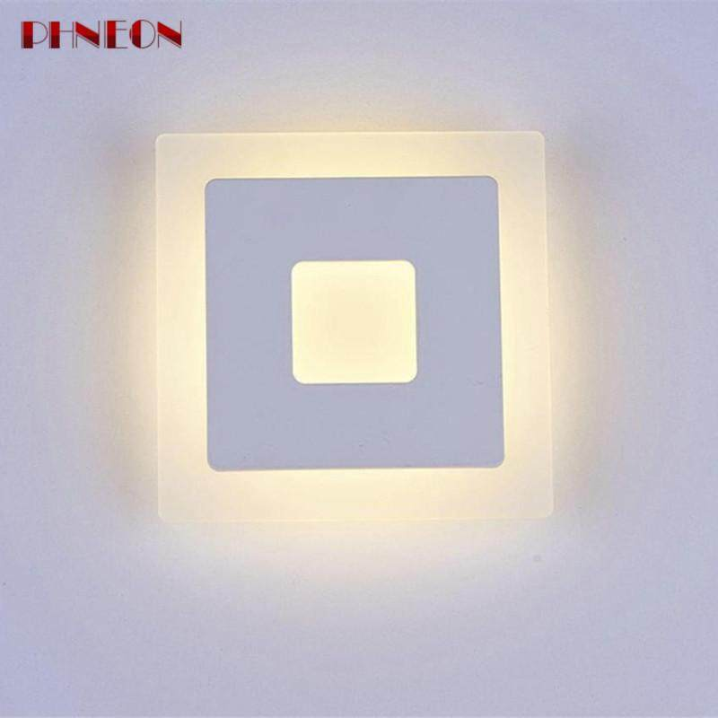 PHNEON Modern Wall Lamp Indoor Home Decorative Lighting Acrylic Wall Sconce Lighting 18w Led Light Bedroom Living Room Wall Lamps Bl153 - intl