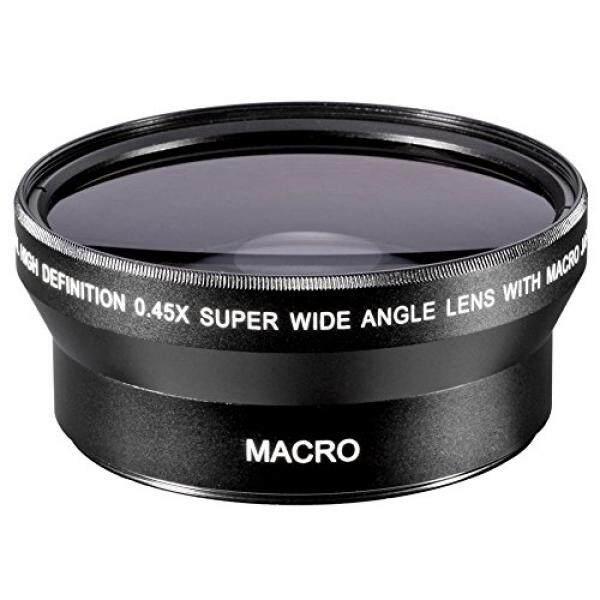 Neewer 67MM 0.45x Professional HD Wide Angle Lens (w/ Macro Portion) for CANON (18-135mm EF-S IS STM, EF 70-200mm f/4L), NIKON (18-105mm f/3.5-5.6 AF-S DX VR ED Nikkor, 70-300mm f/4.5-5.6G) - intl