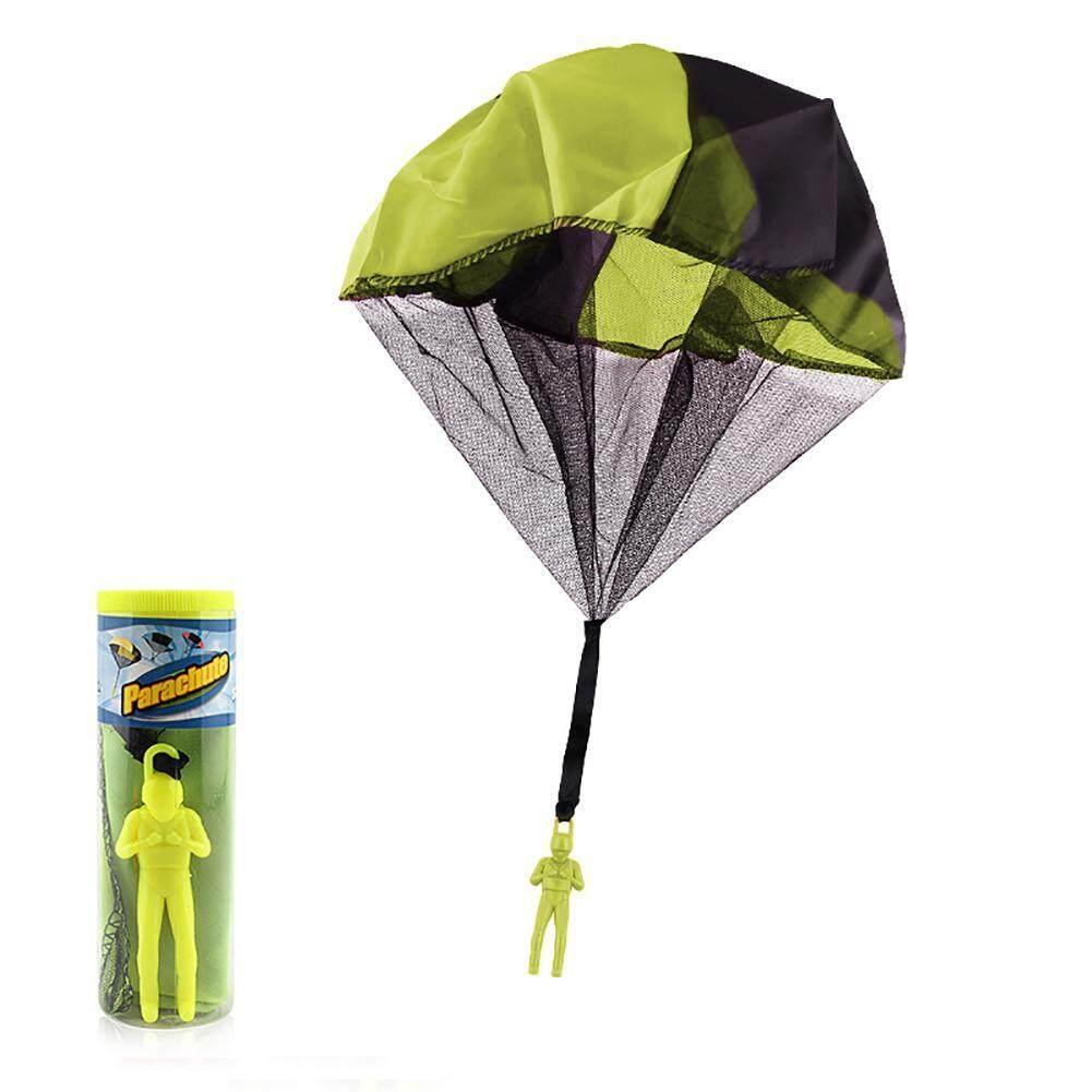 Niceeshop Kusut Gratis Melempar Parasut Angka Tangan Melempar Prajurit Parasut Square Outdoor Anak Mainan Terbang-