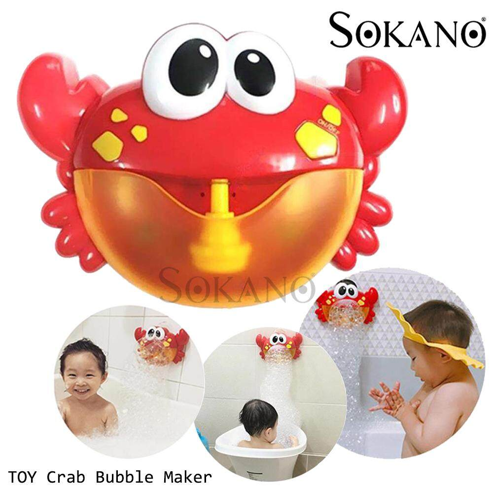 (RAYA 2019) SOKANO TOY Crab Bubble Maker Automated Spout Bubble Machine with Kids Song Rhymes Bath Shower Toy for Kids