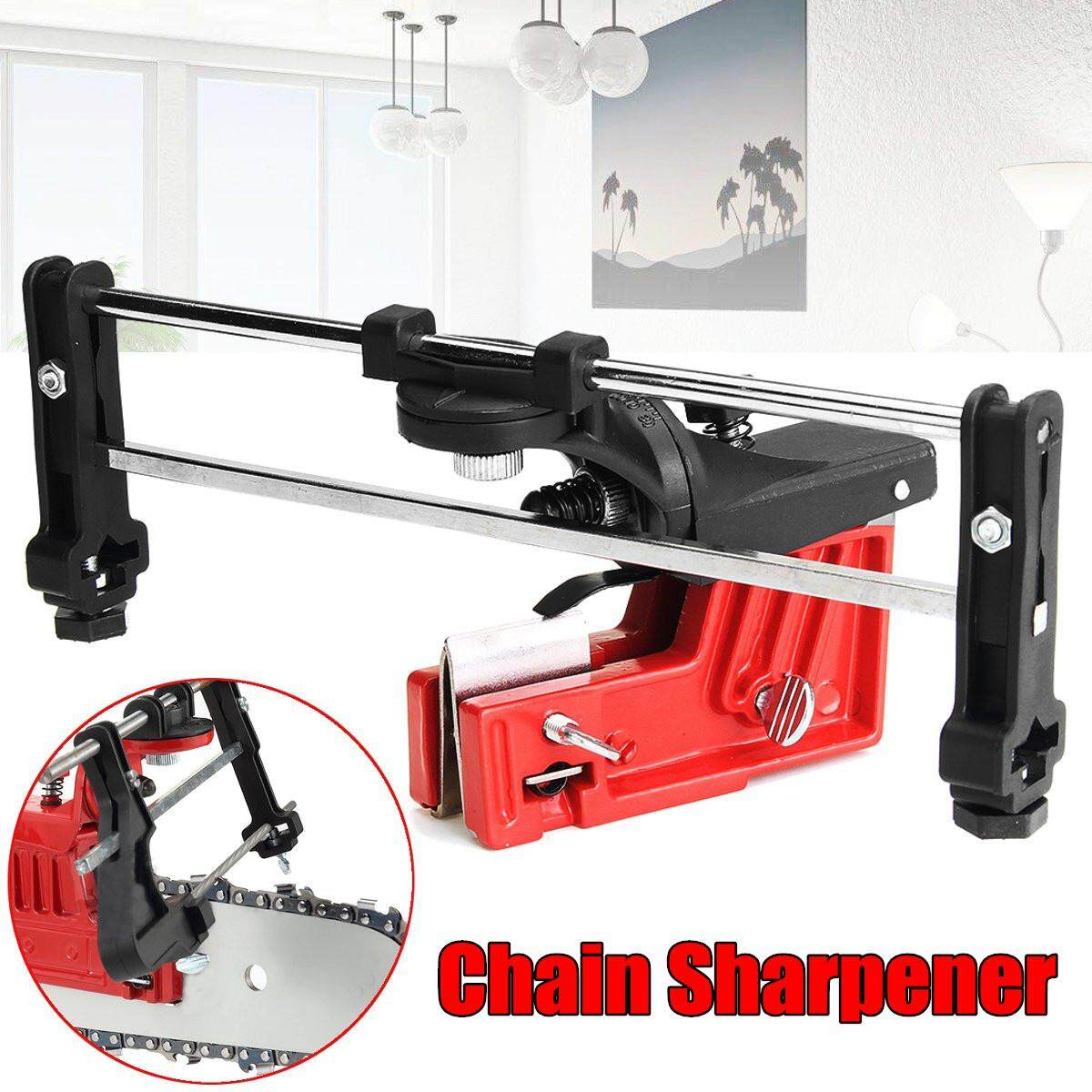 Professional Bar Mounted Pro Sharpener Chainsaw Saw Chain Grinder Filing Guide - intl
