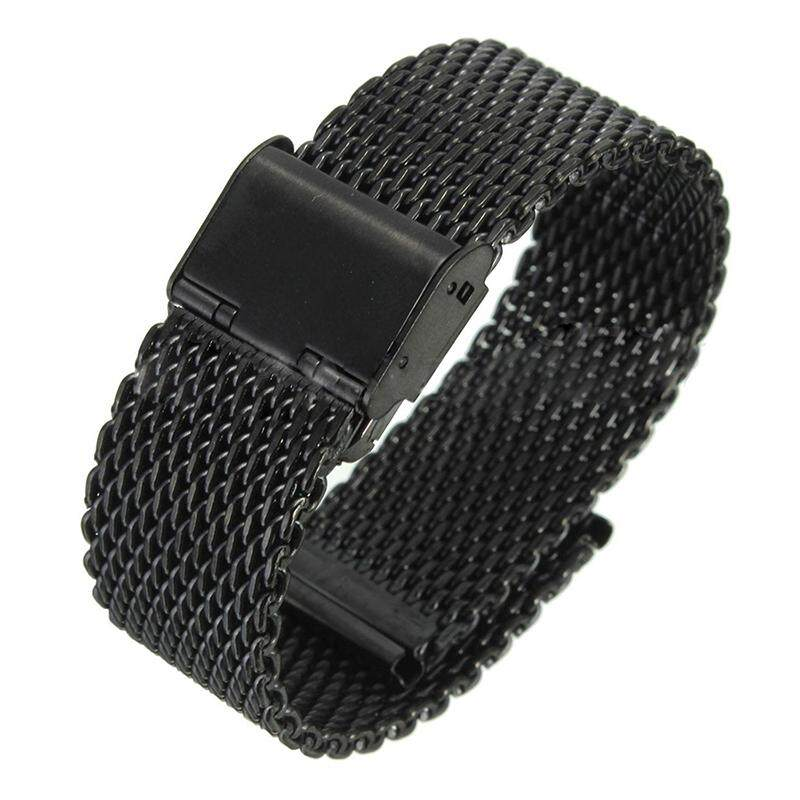 NEW Stainless Steel Watch Band Wrist Strap + Tool For Samsung Galaxy Gear S2 (B Black)