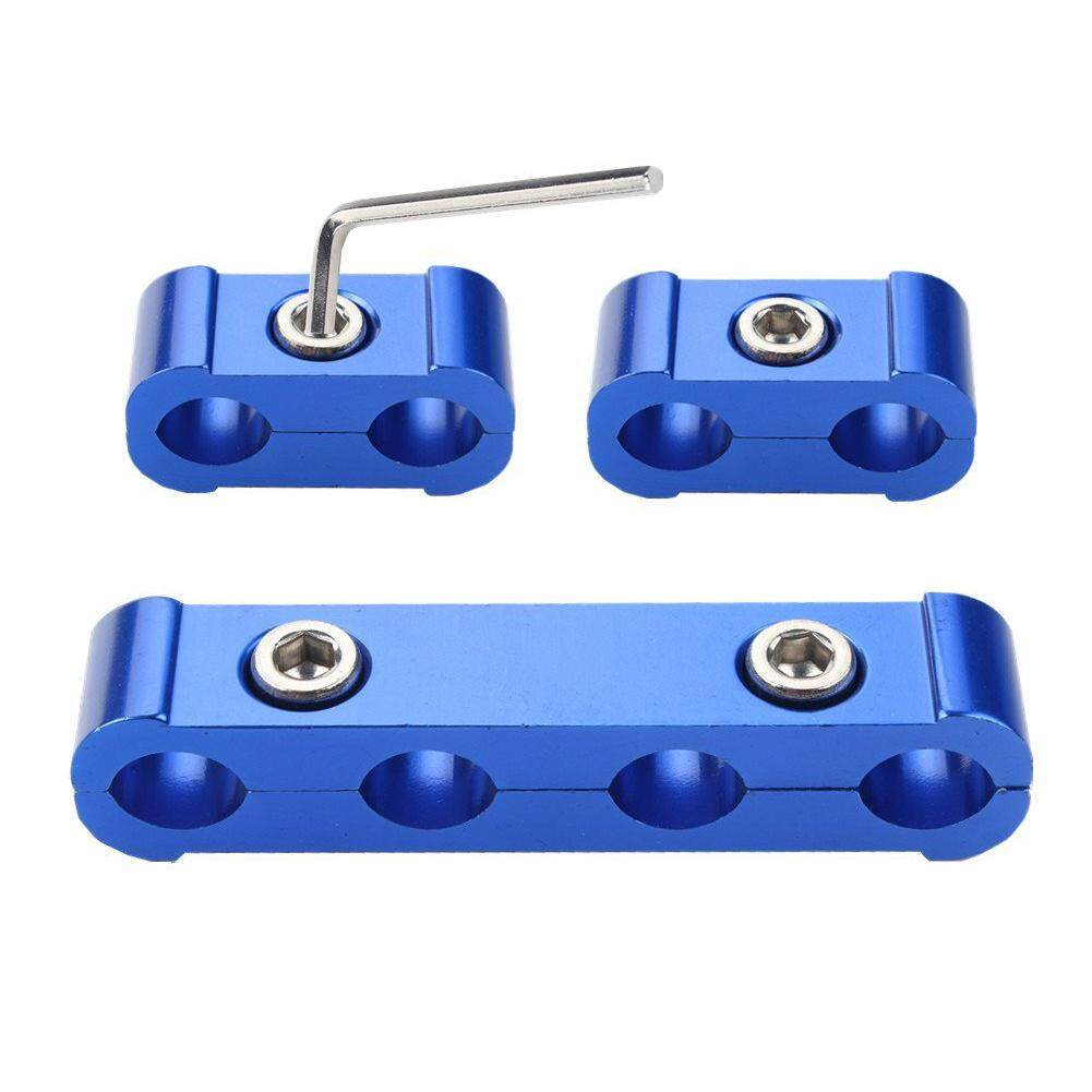 3pcs Engine Spark Plug Wire Separator Divider Clamp Kit For 8mm 9mm 10mm(blue) By Yomichew.