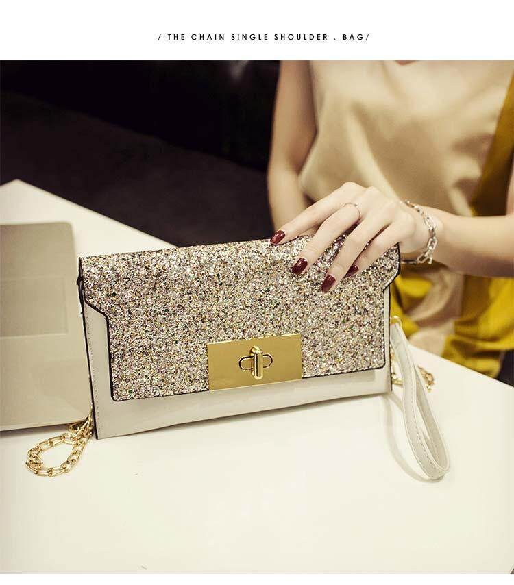 Women Glitter Party Messenger Bag Wild Personality Clutch Chic Fashion Hand Bag