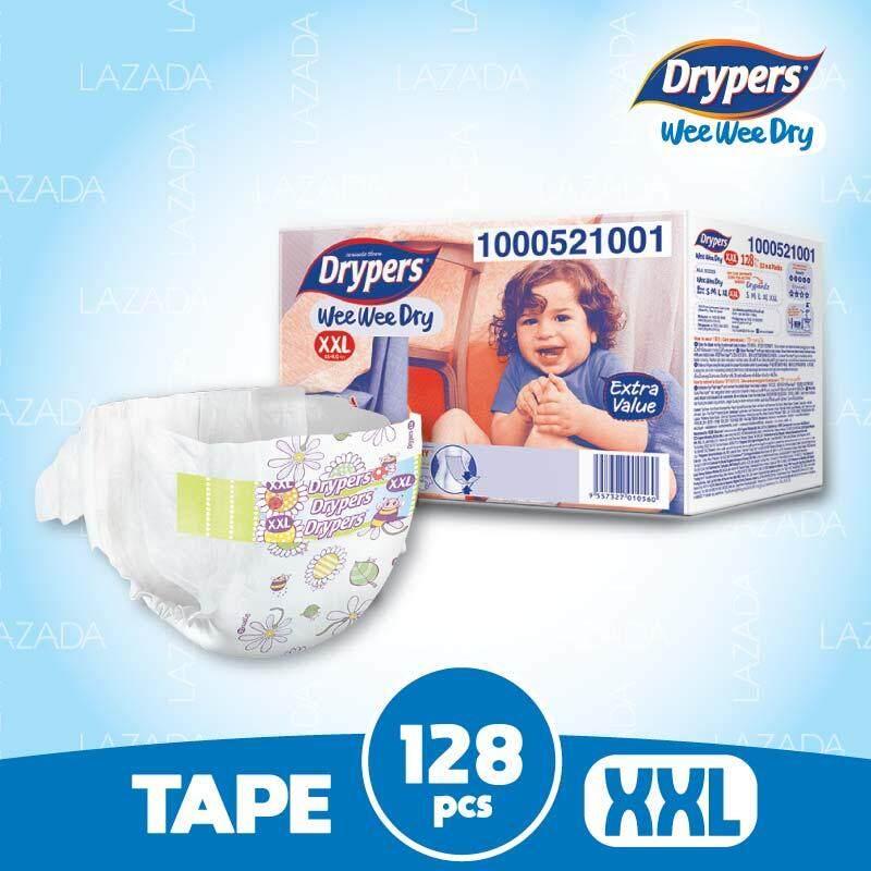 Drypers Wee Wee Dry XXL32 x 4packs (128 pcs)