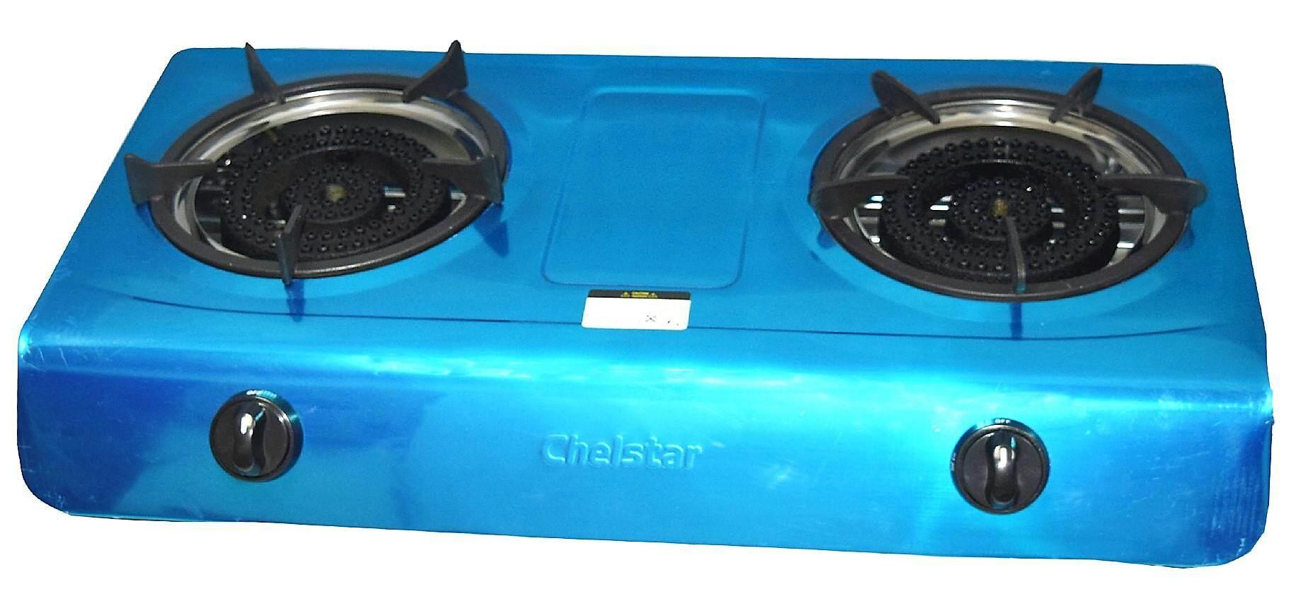 Chelstar S/S Double Burner Gas Cooker / Stove (K-150)