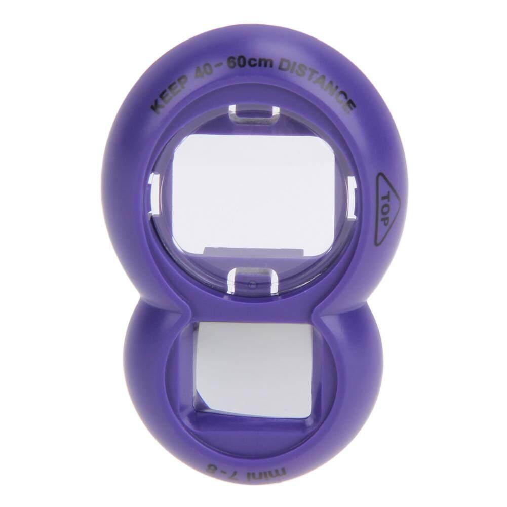 Lensa Close Up Cermin Potret Diri untuk Fujifilm Instax Mini 8 Mini 7 S Kamera (Ungu)